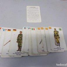 Barajas de cartas: JUEGO DE CARTAS DE LOS UNIFORMES MILITARES, DE GAEZ , 1970. Lote 269726848