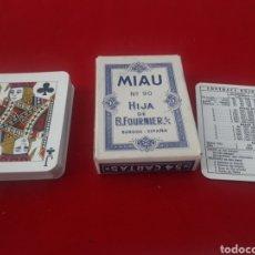 Barajas de cartas: BARAJA MIAU N ° 9 HIJA DE B FOURNIER BURGOS. Lote 271956568