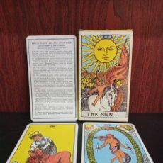 Barajas de cartas: GIANT RIDER WAITE TAROT CARDS 22 MAJOR ARCANA.1971.. Lote 286842568