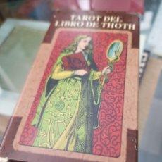 Barajas de cartas: BARAJA DE CARTAS TAROT DEL LIBRO DE THOTH. Lote 272652428