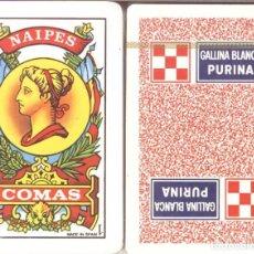 Barajas de cartas: GALLINA BLANCA PURINA - BARAJA ESPAÑOLA 50 CARTAS. Lote 273531443