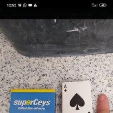Barajas de cartas: MINI BARAJA CARTAS POKER SUPERCEYS PROMOCIONAL LA CAJA MIDE 4 X 6 X 1,8CMS. Lote 274686738