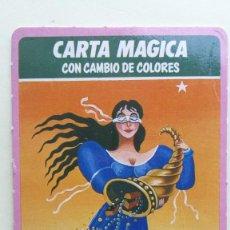 Barajas de cartas: CARTA MÁGICA CON CAMBIO DE COLORES TELEINDISCRETA FORTUNA AÑOS 80. Lote 275160143
