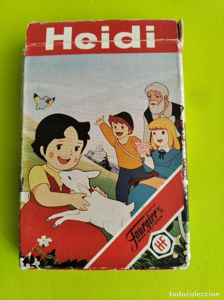 ANTIGUA BARAJA CARTAS FOURNIER HEIDI 1987 COMPLETA (Juguetes y Juegos - Cartas y Naipes - Barajas Infantiles)