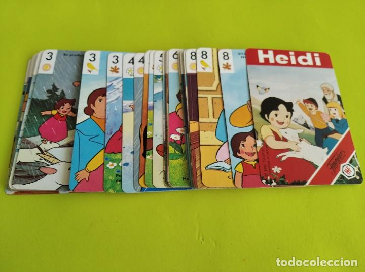 Barajas de cartas: ANTIGUA BARAJA CARTAS FOURNIER HEIDI 1987 COMPLETA - Foto 7 - 275572353