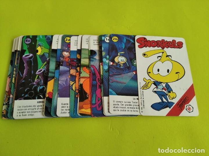 ANTIGUA BARAJA CARTAS FOURNIER SNORKELS 1986 INCOMPLETA (Juguetes y Juegos - Cartas y Naipes - Barajas Infantiles)