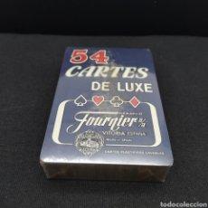 Barajas de cartas: BARAJA DE CARTAS PRECINTADA, PÓKER FRANCÉS CARTES DELUXE PLASTIFIÉS LAVABLES HERACLIO FOURNIER. Lote 275600613