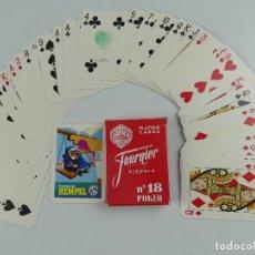 Jeux de cartes: BARAJA DE CARTAS FOURNIER POKER 18 PUBLICIDAD PINTURAS HEMPEL. Lote 275693313
