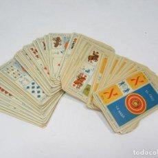 Baralhos de cartas: TAROT ANTIGUO. 78 CARTAS. 5 PALOS + 1 CARTA. B G B E HIJOS.. Lote 276010573