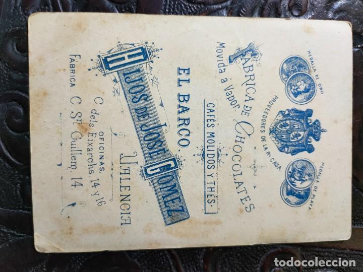 Barajas de cartas: ANTIGUA CARTA O CROMO FÁBRICA DE CHOCOLATES EL BARCO. JUEGO DE LA ADUANA. - Foto 2 - 276139958