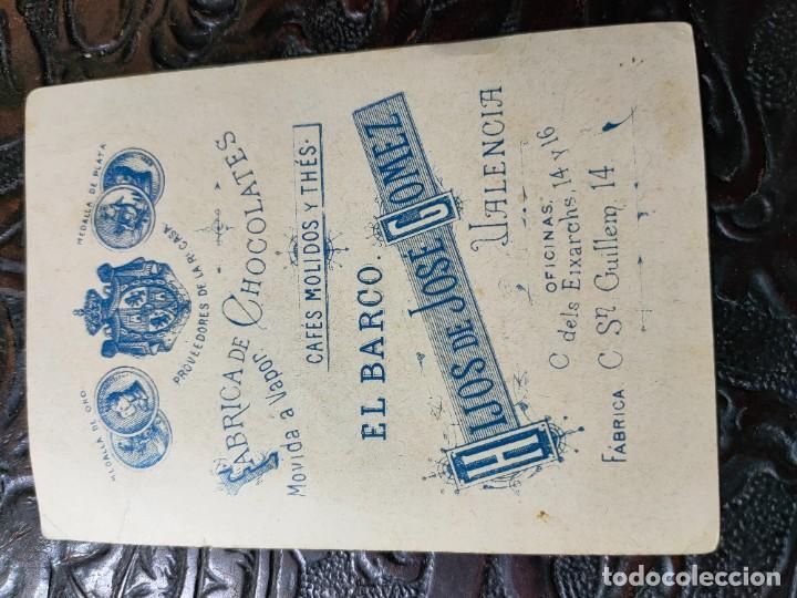 Barajas de cartas: ANTIGUA CARTA O CROMO FÁBRICA DE CHOCOLATES EL BARCO. JUEGO DE LA ADUANA. PERRITO - Foto 2 - 276140218