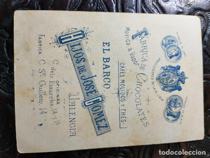 Barajas de cartas: ANTIGUA CARTA O CROMO FÁBRICA DE CHOCOLATES EL BARCO. JUEGO DE LA ADUANA. MARTILLO - Foto 2 - 276140293