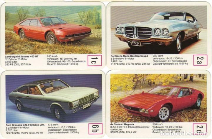 Barajas de cartas: Baraja AUTOSALON top trumpf tms - Cuartetos de coches número 0235 - nueva a estrenar 1972-1973 - Foto 6 - 275938138