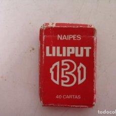 Baralhos de cartas: NAIPES LILIPUT, HERACLIO FOURNIER, BARAJA ESPAÑOLA DE CARTAS COMPLETA, EN SU CAJA DE CARTÓN, 6 X 4. Lote 276298453