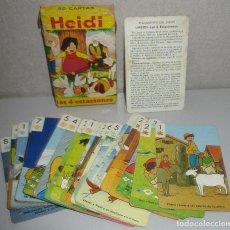 Jeux de cartes: BARAJA INFANTIL HERACLIO FOURNIER HEIDI, LAS 4 ESTACIONES, 1975. Lote 276405578