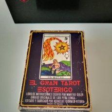 Baralhos de cartas: EL GRAN TAROT ESOTERICO 1976 BARAJA CARTAS DE TAROT HERACLIO FOURNIER COMPLETA BUEN ESTADO. Lote 276667508