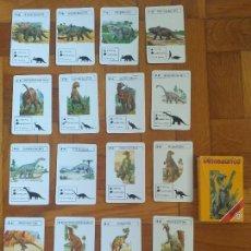 Mazzi di carte: FOURNIER - BARAJA DE CARTAS DINOSAURIOS, AÑO 1993, COMPLETA. Lote 276755638
