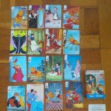 Jeux de cartes: ANTIGUA BARAJA FOURNIER BLANCANIEVES WALT DISNEY COMPLETA 33 CARTAS AÑO 1983. Lote 276755873