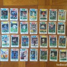 Mazzi di carte: BARAJA DE CARTAS FOURNIER LIGA FUTBOL 92-93 COMPLETA CON 33 CARTAS EN BUEN ESTADO. Lote 276756438