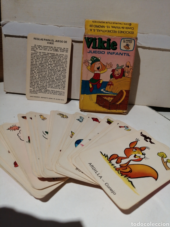 BARAJA VIKIE EL VIKINGO CARTAS INFANTILES COMPLETA Y EN CAJA ORIGINAL (Juguetes y Juegos - Cartas y Naipes - Barajas Infantiles)