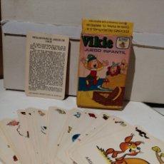 Barajas de cartas: BARAJA VIKIE EL VIKINGO CARTAS INFANTILES COMPLETA Y EN CAJA ORIGINAL. Lote 277061408