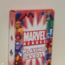 Barajas de cartas: MARVEL HEROES PLAYING CARDS - BARAJA POKER - OCASION. Lote 277140283