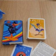 Barajas de cartas: BARAJA INFANTIL LOONEY TUNES COMPLETA.. Lote 277193903