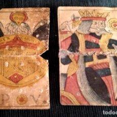 Baralhos de cartas: ANTIGUAS E INTERESANTES CARTAS DE BARAJA S. XVIII, MAL ESTADO, PARA ESTUDIO Y COLECCIONISTAS. Lote 277194113