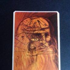 Barajas de cartas: CARTA/CROMO. QUESO MILKANA. LEONARDO DA VINCI.. Lote 277250528