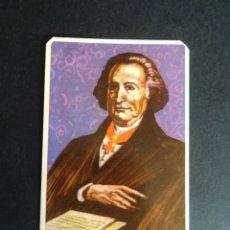 Barajas de cartas: CARTA/CROMO. QUESO MILKANA. JOHANN W. VON GOETHE. Lote 277251068