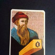 Barajas de cartas: CARTA/CROMO. QUESO MILKANA. JOHANNES GUTENBERG.. Lote 277251658