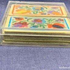 Barajas de cartas: 2 BARAJAS CARTAS POKER HERACLIO FOURNIER VITORIA MADE IN SPAIN BORDADOS 10X13CMS. Lote 278227503
