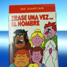 Barajas de cartas: ERASE UNA VEZ EL HOMBRE. BARAJA INFANTIL, 32 CARTAS. FOURNIER VITORIA, 1979. COMPLETA CON INSTRUCCIO. Lote 278369813