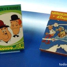 Barajas de cartas: MORTADELO Y FILEMON + EL GORDO Y EL FLACO. BARAJAS INFANTILES, 32 CARTAS. FOURNIER VITORIA, 1980 Y. Lote 278370468