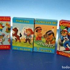 Barajas de cartas: 7 CUENTOS INANTILES + PAREJAS DEL MUNDO + FAMILIAS DE 7 PAISES + CONTAMOS CONTIGO.. Lote 278376538