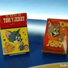 Barajas de cartas: TOM Y JERRY. 2 BARAJAS INFANTILES, 32 Y 40 CARTAS. FOURNIER VITORIA, 1980 Y ED. RECREATIVAS 1979. CO. Lote 278378918