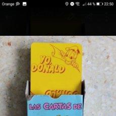 Barajas de cartas: BARAJA CARTAS YO DONALD WALTS DISNEY AÑOS 90. Lote 278424928