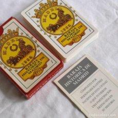 Barajas de cartas: BARAJA HISTÓRICA DE MADRID 1992, CON LIBRITO EXPLICATIVO, NUEVA. Lote 278486043