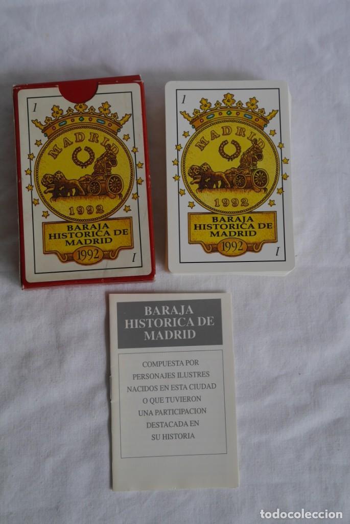 Barajas de cartas: Baraja histórica de Madrid 1992, con librito explicativo, nueva - Foto 2 - 278486043