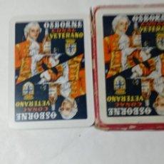 Barajas de cartas: BARAJA ESPAÑOLA CARTAS PUBLICIDAD OSBORNE COÑAC VETERANO. Lote 278796368
