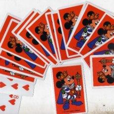 Barajas de cartas: BARAJA DE POKER MICKEY MOUSE VESTIDO DE REY MAGO CON CETRO EN LA MANO. Lote 278841398