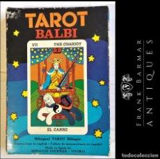 Barajas de cartas: CARTAS DEL TAROT BILINGUE POR DOMENICO BALBI - AÑO 1976 - HERACLIO FOURNIER VITORIA - MADE IN SPAIN. Lote 278884158