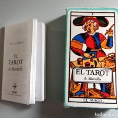 Barajas de cartas: BARAJA CARTAS TAROT DE MARSELLA. EDAF ANTIGUA 1999 78 NAIPES + LIBRO MANUAL EXPLICATIVO PAUL MARTEAU. Lote 278925753