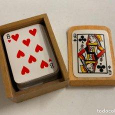 Barajas de cartas: CARTAS POKER EN MINIATURA - CON CAJA A MEDIDA PARA GUARDARLAS.. Lote 279361878