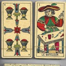 Barajas de cartas: BARAJA TAROT MARSELLES DEVECCHI, DOS MAZOS PRECINTADOS, 39 CARTAS EN CADA UNO DE 1988. SIN ESTRENAR.. Lote 279580723