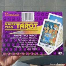 Barajas de cartas: NAIPE TIPO TAROT, PRONACO, 22 ARCANOS MAYORES, 56 MENORES+2 CARTA REPOSICION, COMPLETO.. Lote 280581403
