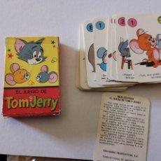 Barajas de cartas: EL JUEGO DE TOM Y JERRY EDICIONES RECREATIVAS 1979. Lote 280786908