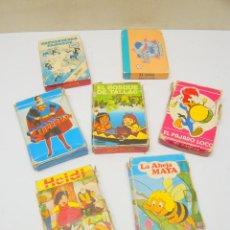 Jeux de cartes: LOTE 7 BARAJAS DE CARTAS INFANTILES HERACLIO FOURNIER - ABEJA MAYA HEIDI SUPERMAN PAJARO LOCO BOSQUE. Lote 280997803