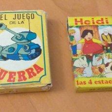 Barajas de cartas: BARAJAS CARTAS JUEGO DE LA GUERRA Y HEIDI. Lote 281931568