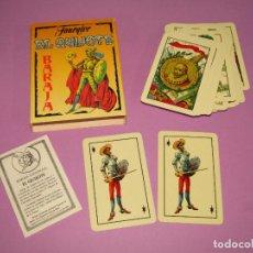 Barajas de cartas: ANTIGUA BARAJA ESPAÑOLA EL QUIJOTE DE H. FOURNIER CON DIBUJOS DE E. PASTOR DEL AÑO 1993. Lote 281990158
